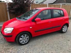 HYUNDAI GETZ 1.1 SMALL PETROL 5 DOOR CAR IN RED NEW MOT ISO FIX SEATS CHEAP CAR
