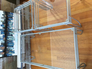 Glass Top Coffee Table and End Table Set