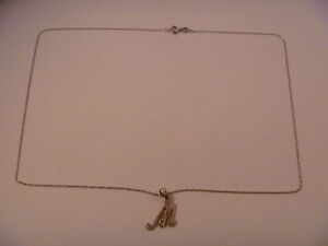 925 Silver Necklace and 925 Silver M Charm