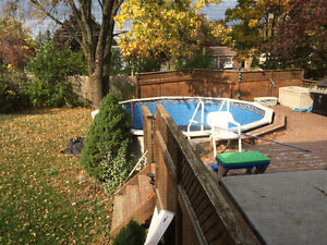 18' above ground pool for free newer liner