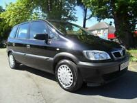VAUXHALL ZAFIRA 1.8i 16v 2003 CLUB COMPLETE WITH M.O.T HPI CLEAR INC