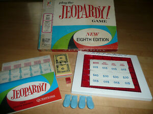 vintage board game-Jeopardy! 8th ed 1964 COMPLETE!