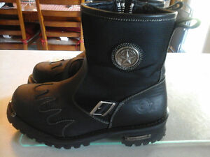 Mens Authentic Milwaukee MB442 Burnout Motorcycle Boots