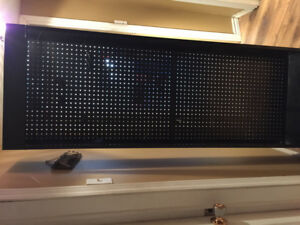 2 Metal cabinets with peg board backing - $45 each