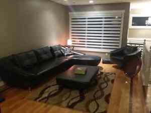 Leather modern sectional