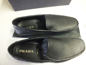 PRADA Mens Leather Casual Loafer Shoes