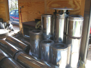 Insulated Wood Stove Chimney and accessories   Woodstove