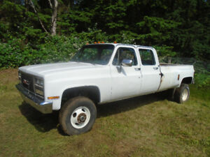 1989 GMC 3500 1 ton 4x4 Crewcab dually pickup