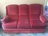 Parker Knoll Three Piece Sofa and ArmChair