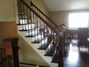 OAK RAILING, STAIRS RECAPPING, NEWEL POSTS & CROWN MOULDING