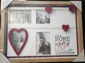 Home Full of Love - Multi Aperture photo frame