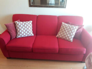 Couch and a  Wing Back Chair - BOTH LIKE NEW!!!!