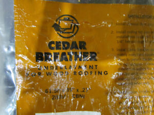 Bejamin Obdyke Cedar Breather - unused 200 sq ft roll