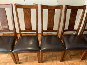 6 wooden chairs