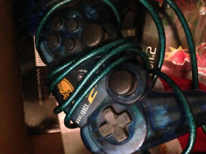 Ps2 console and controller with games (no cords)