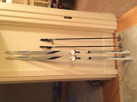 skis and poles for sale
