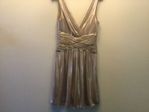 BCBG Elegant golden dress