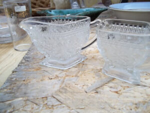 Down Sizing Glass Sugar & Cream Holders