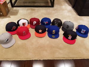 New Era fitted hats - size 7.5 - Like New and New