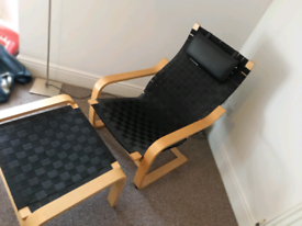 Ikea arm chair and leg rest and head rest
