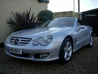 MERCEDES SL 350 7G TRONIC AUTO CONVERTIBLE 96K MILES FULL LEATHER SAT NAV