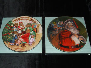 TWO VINTAGE AVON CHRISTMAS PLATES