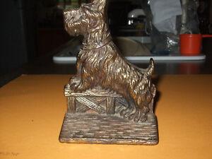 Vintage Scottie Terrier Cast Iron Brass Door Stop Kitchener / Waterloo Kitchener Area image 2