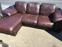 Lovely leather corner sofa for sale ~ free local delivery