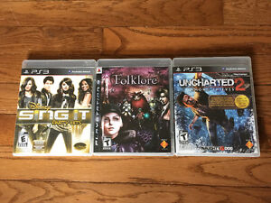 PS3 Games Hardly Used- not the gammer type