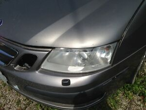 LEFT HEADLIGHT WITHOUT XENON FITS 03-07 SAAB 9-3