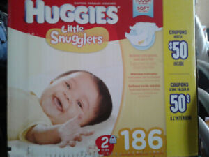 186 Huggies Diapers Size 2