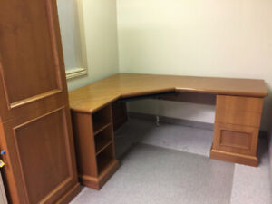 MOVING SALE! Perfect Corner Desk with matching cabinet
