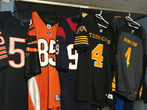 NFL and CFL jerseys