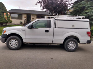 2014 f150 with utility box.