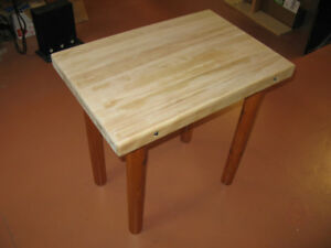 "Solid 2"" Thick Maple Hardwood Top Table"