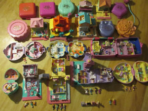 POLLY POCKET Doll Compact Toy Lot Vintage Blue Bird Play set G1
