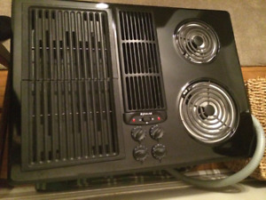 "Jenn-Air 30"" Electric Downdraft Cooktop with grill- BRAND NEW!"