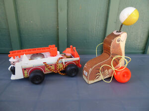 Fisher Price Wooden Firetruck and Seal