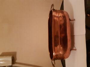 Vintage copper flower pot tub Style