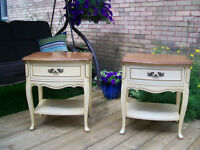 GORGEOUS FRENCH PROVINCIAL MATCHING NIGHTSTANDS *** CAN DELIVER