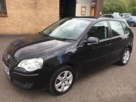 5809 Volkswagen Polo 1.2 70ps Match Black 5 Door 75216mls MOT 12m