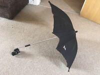 Silver cross parasol like new