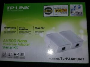 TP-Link TL-PA4010KIT Nano Powerline Adapter Starter Kit