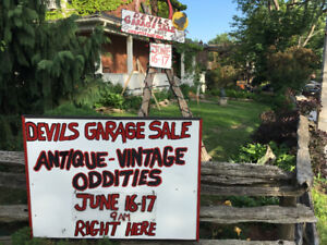 Street sale  Saturday June 16th Antiques and vintage oddities