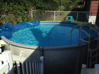 Above Ground 21 ft. Saltwater Pool