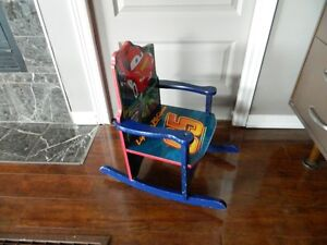 CHILDREN ROCKING CHAIR, CARS  BACK PACK.