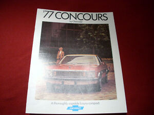 1977 Chevy  Concours (nova) sales brochure Peterborough Peterborough Area image 1