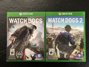 XBOX ONE Watch Dogs and Watch Dogs 2