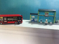 LEGO pizza parlour and city bus