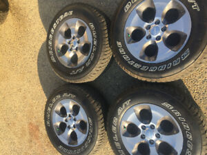 4 New Jeep Wrangler 255/70R18 Rims and Tires